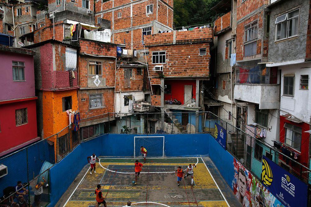 Фавелы в Рио-де-Жанейро.