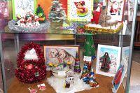 Детские работ на выставке «Рождество. Новогодняя сказка».
