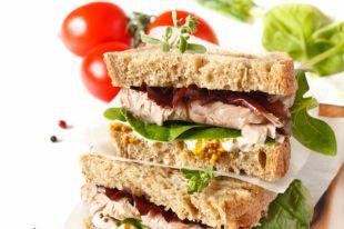 Сэндвич с говядиной и горчицей