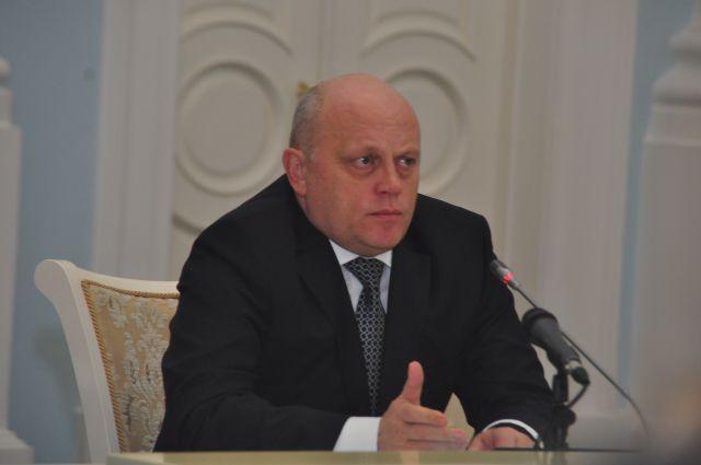 Виктор Назаров на итоговой пресс-конференции.