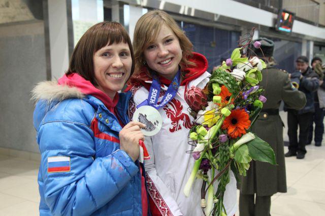Ольга Фаткулина и ее тренер Светлана Журавлева.