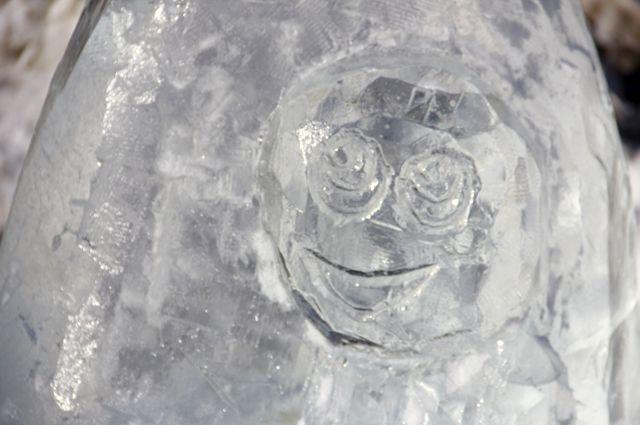 В здоровом водоеме рыба замерзать не должна, уверены ледовые скульпторы.