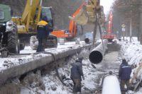 Прокладка газопровода на Крестовском острове.