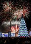 2012 год. Главная елка Украины была создана на основе пожеланий киевлян. Высота ее составила 34,8 м, диаметр по нижнему ярусу – 12,5 м, а вес – 30 т