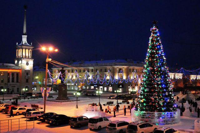 Новогодний Ангарск.