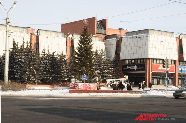 Омск готовится к встрече Нового года.