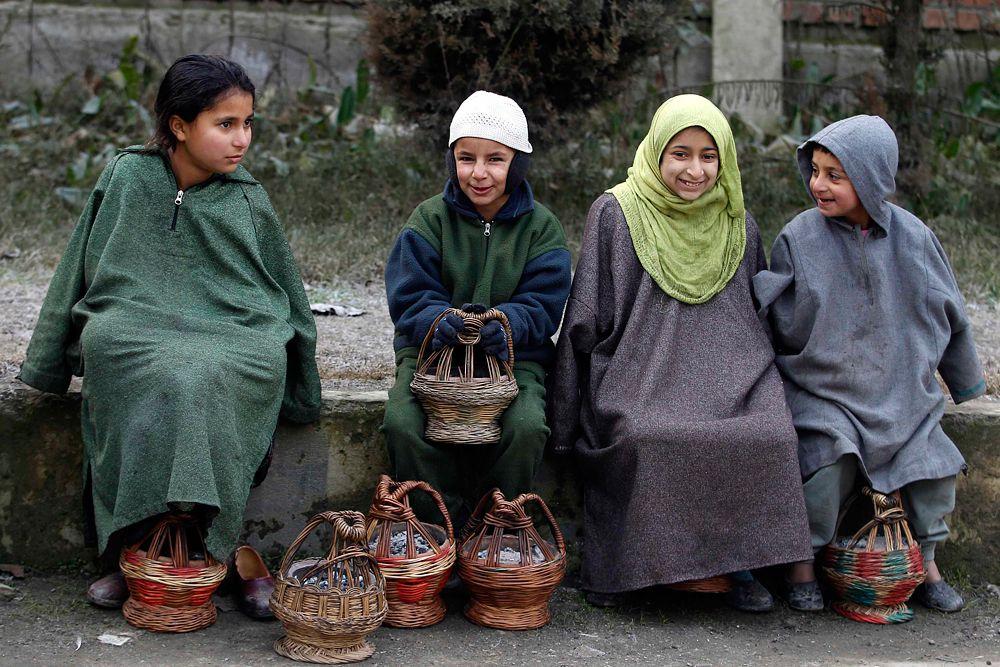 Дети в Кашмире.