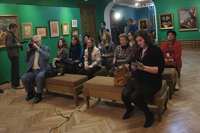На открытии выставки «Неизвестный Эрмитаж».