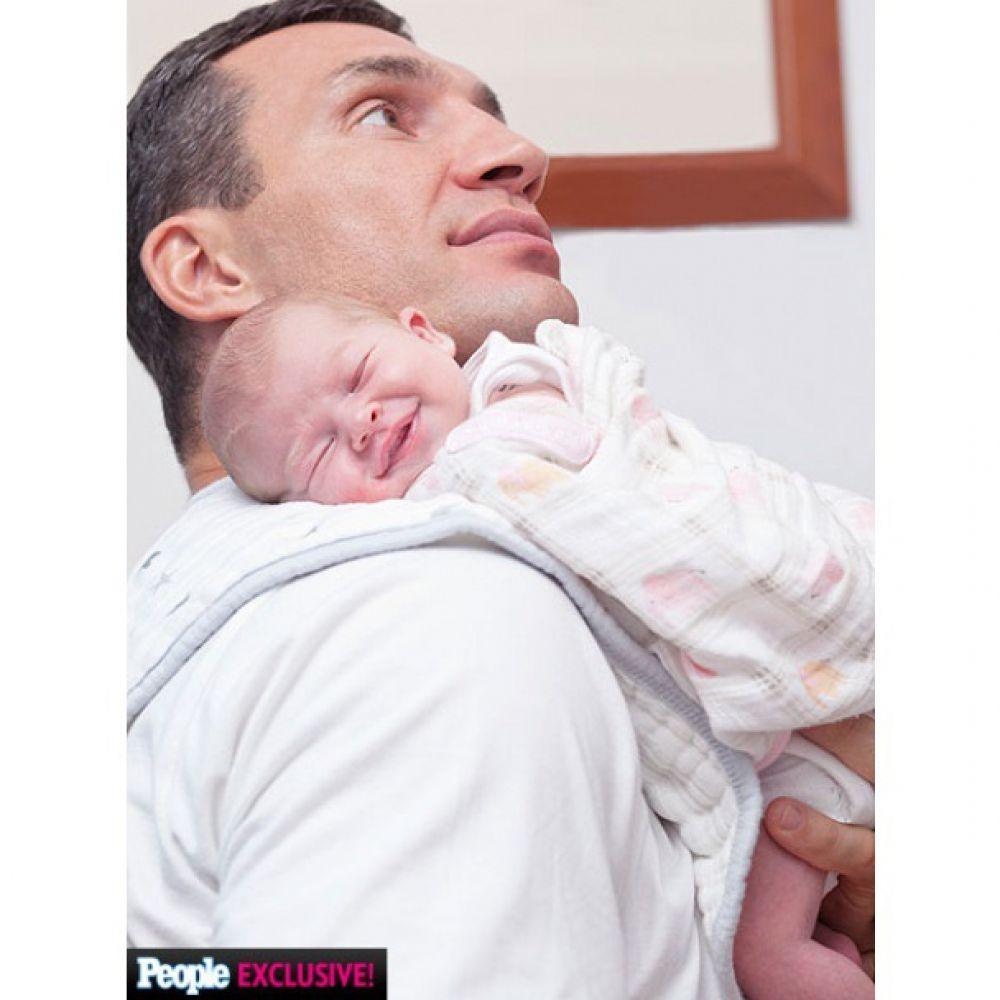 Владимир Кличко с дочкой