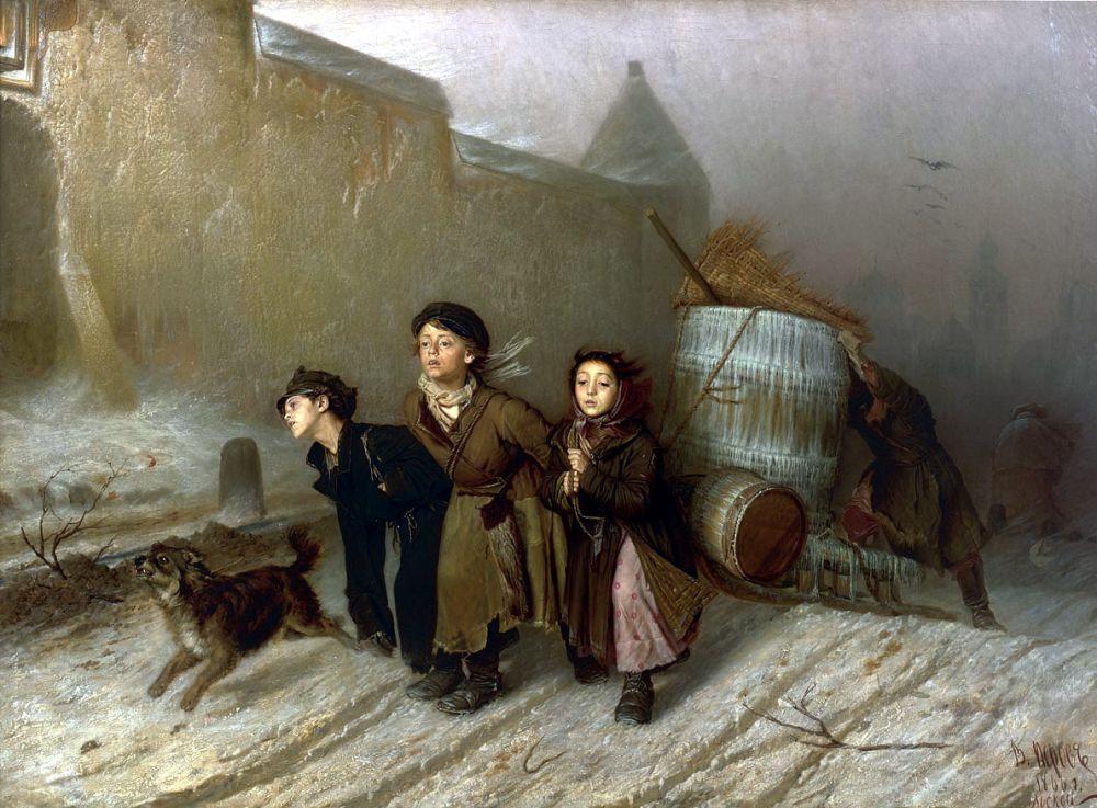 К лучшим произведениям Перова конца шестидесятых относятся картины «Тройка» (1866), «Утопленница» (1867), «Последний кабак у заставы» (1868).  В 1869 году наступает трагичное время в судьбе художника: умирает его жена, а через некоторое время он хоронит двух старших сыновей.