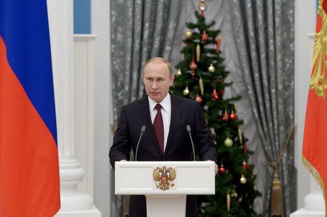 Владимир Путин на церемонии вручения государственных наград.