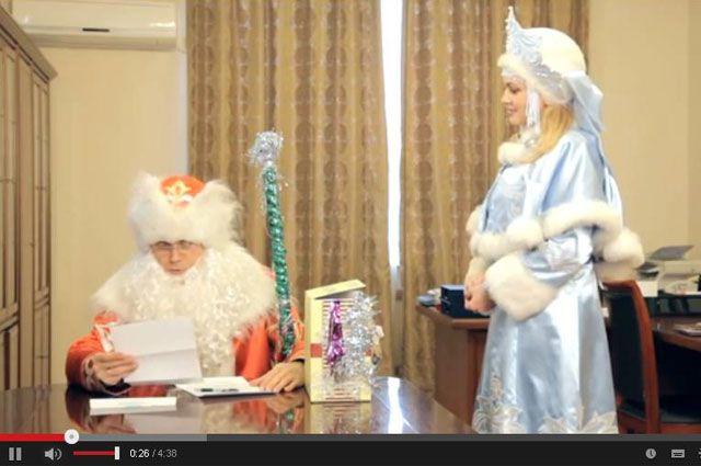 В роли Деда Мороза - мэр Иркутска.