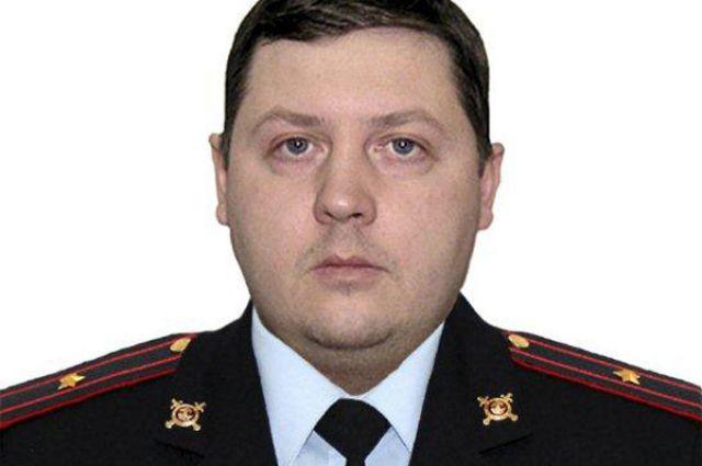 Майор полиции Дмитрий Шпак.