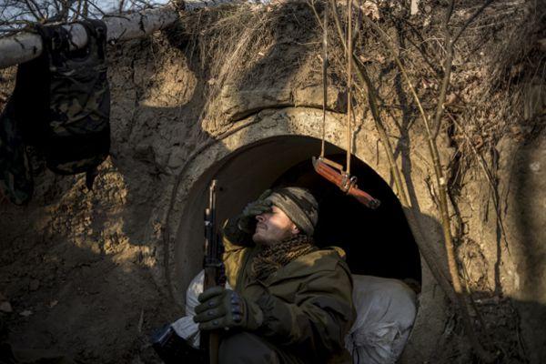 Линия обороны в районе Луганска.