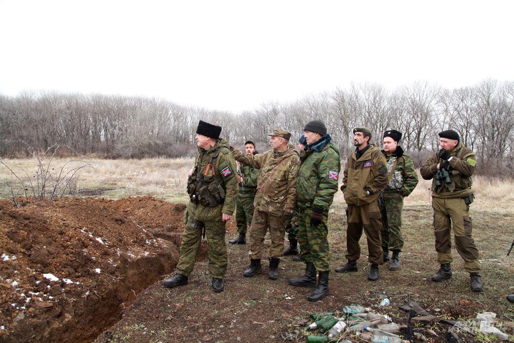 Район Комиссаровки. Луганская область. Осмотр позиций.