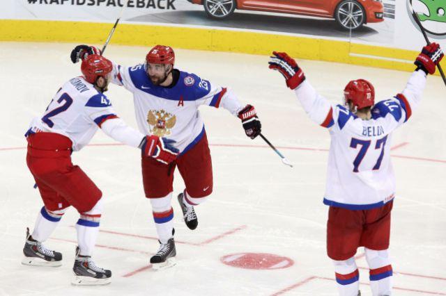 Российская сборная по хоккею на ЧМ-2014.