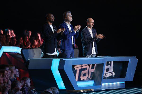 Судьи проекта «ТАНЦЫ» на ТНТ: Мигель, Сергей Светлаков и Егор Дружинин.