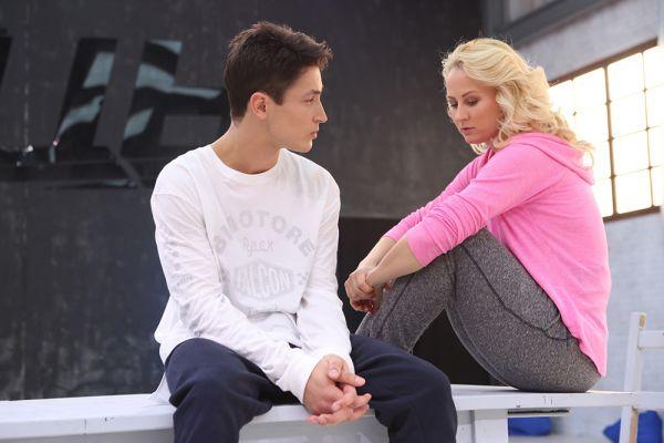 SLAVA и хореограф Юлия Кашкина готовятся к совместному номеру.