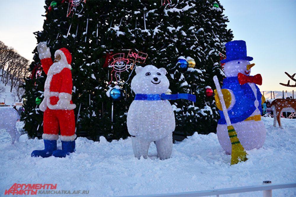 Снежные гости.