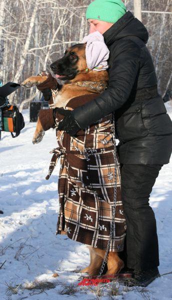 Галина Гращенкова и немецкая овчарка Джесика