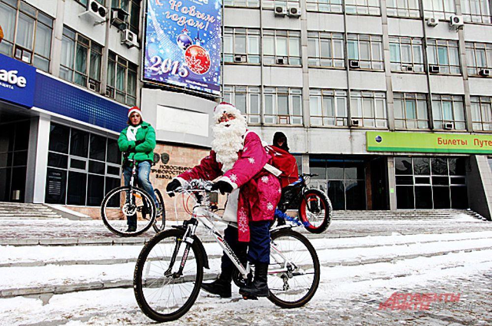 Велопробег стартовал от площади Калинина