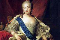 Идеализированный парадный портрет Елизаветы Петровны кисти Шарля ван Лоо