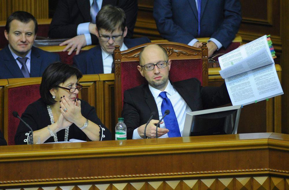 Арсений Яценюк: «Ключевая цель бюджета-2015 – это финансирование национальной безопасности и обороны»
