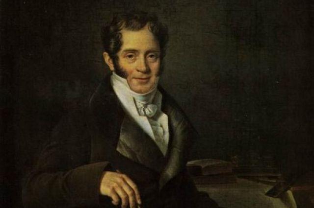 Б. Ш. Митуар. Портрет Карла Ивановича Росси. 1820-е годы.