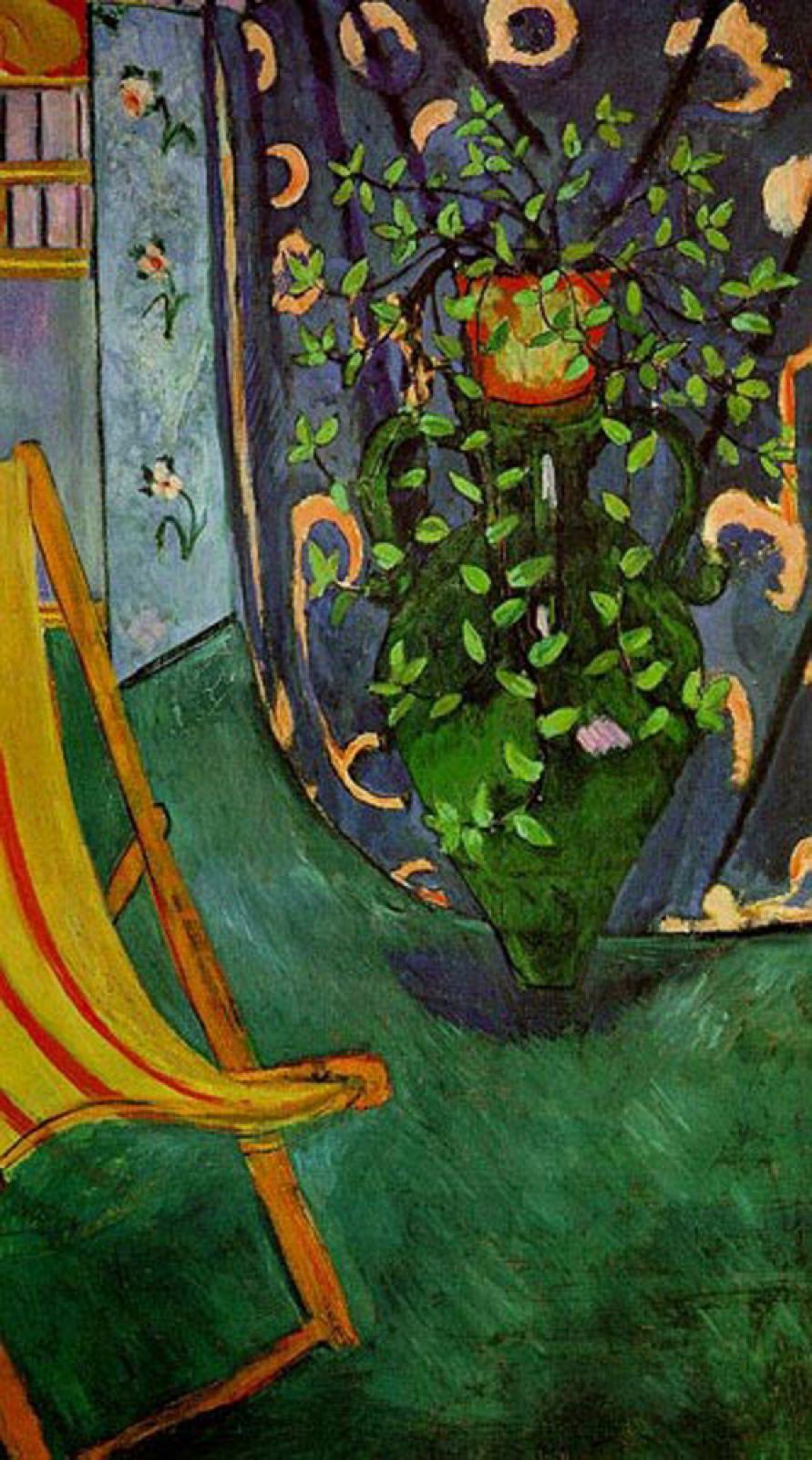 В Марокко он увлекся восточными декоративными узорами и орнаментами, в Мюнхене испытал сильные чувства на выставке произведений исламского искусства, в России был потрясен иконами, на Таити восхищался цветочными композициями. Однако всякий раз, подчиняясь на время новому сильному впечатлению, Матисс впитывал его, как губка, а затем творчески перерабатывал в соответствии с собственным мироощущением.