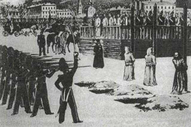 Обряд казни на Семеновском плацу