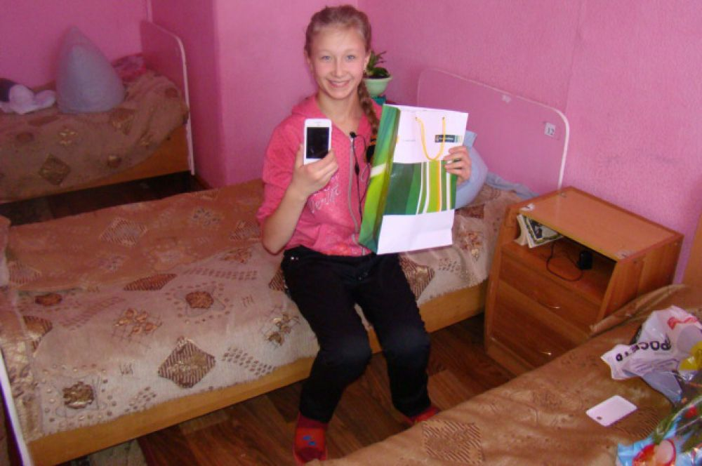 Машу Иванову очень порадовал сенсорный телефон.