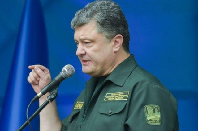 Порошенко на встрече с военными в Житомирской области