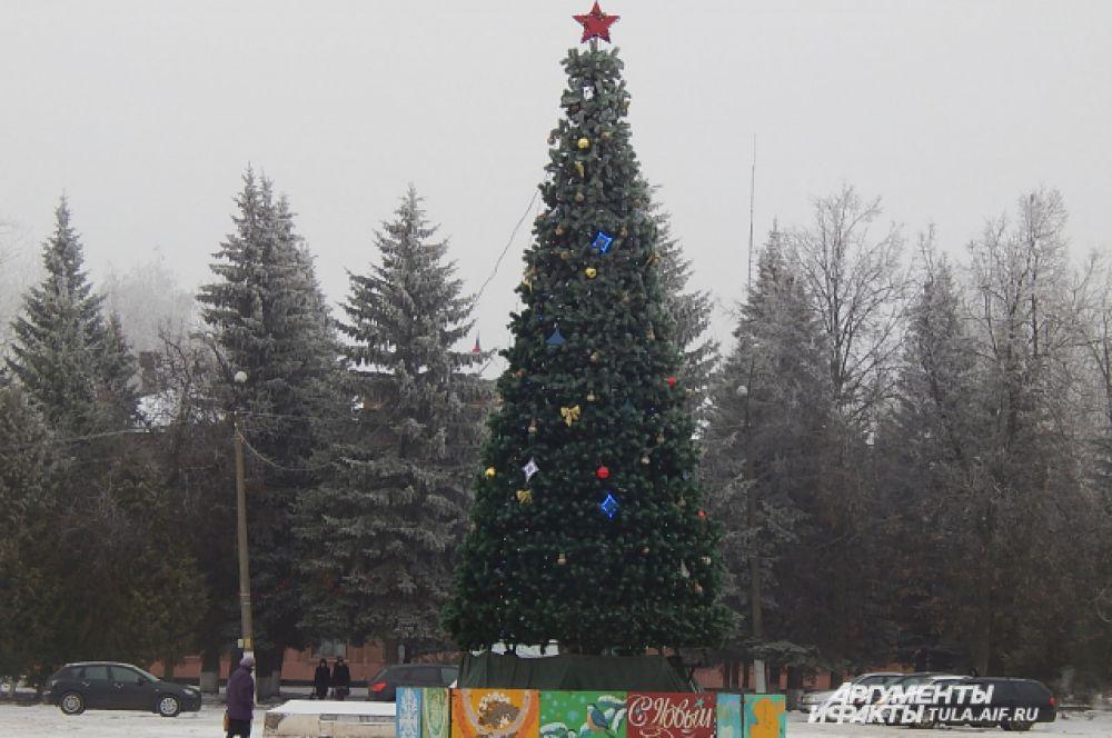 Нарядил в центре города елочку и Кимовск