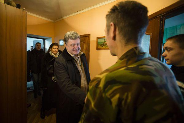 Петр Порошенко в гостях у Николая Лозяка