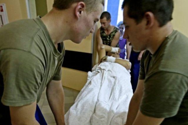 Раненые бойцы АТО