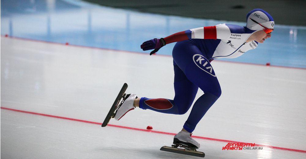 Российская конькобежка Воронина Наталья