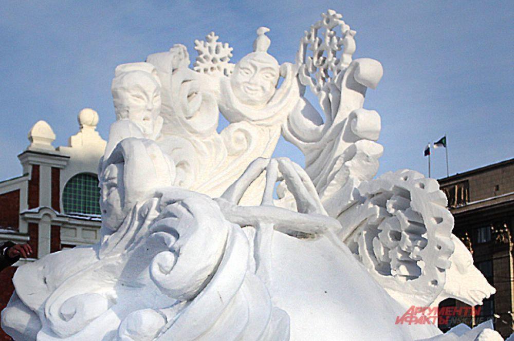 На создание шедевров из снега отводилось всего 4 дня.