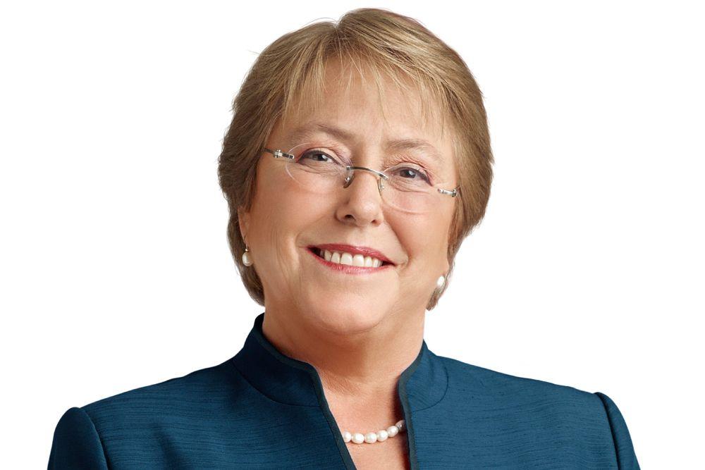 Вероника Мишель Бачелет Херия — президент Чили c 11 марта 2006 по 11 марта 2010 года и c 11 марта 2014 года от Социалистической партии Чили. Первая в истории Чили женщина, избранная на пост главы государства. Дипломированный медик-хирург и эпидемиолог, в своё время она также изучала военную стратегию.