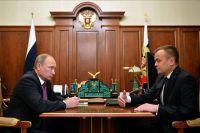 Рабочая встреча президента России и губернатора Иркутской области.