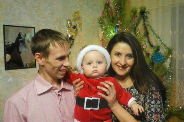 Наталья Чебыкина с мужем и сыном.