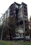 Разрушенный дом в городе Ясиноватая Донецкой области.