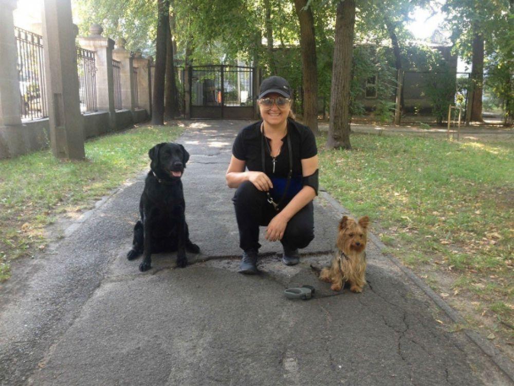 Наталия Могилевская и ее собаки