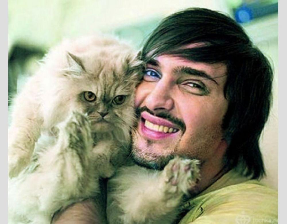 Виталий Козловский и его кот