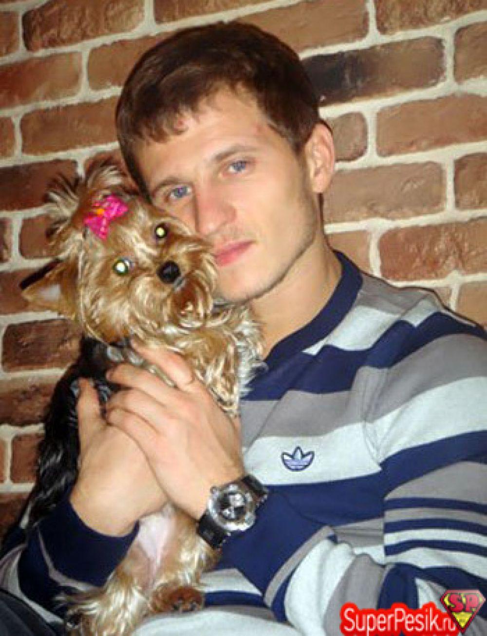 Александр Алиев с собакой