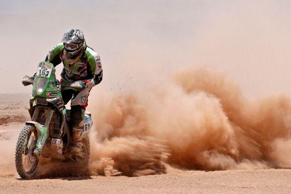 Альсантьяго Онтиверос во время 9-го этапа ралли «Дакар-2015».