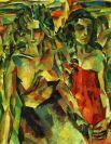 В 1906 году Лентулов попробовал поступить в Петербургскую академию художеств, однако на экзамене повел себя дерзко. На вопрос преподавателя, где художник видит на носу модели зеленый цвет, Лентулов ответил: «А вы разве не видите? В таком случае мне вас жаль». В академию абитуриента не взяли.