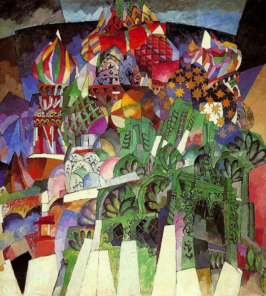 В 1908 году художник познакомился с Машковым, Фальком, Куприным, Рождественским, Кончаловским. Все эти художники стали ядром «Бубнового валета», творческого объединения группы художников-авангардистов, созданного Лентуловым и Ларионовым в 1910 году. Живописцы культивировали вещность, предметность. К картинам периода «Бубнового валета» относятся полотна «Собор Василия Блаженного» (1913), «Москва» (1913), «Битва победы» (1914). В 1916 году объединение «Бубновый валет» распалось: ему на смену пришли новые художественные течения.
