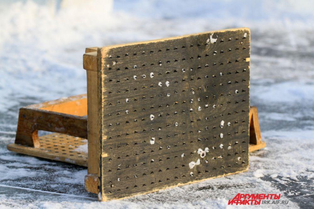 Инструмент для шлифования льда.