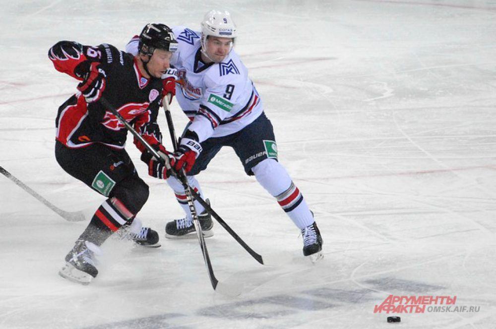«Авангард» проиграл хоккеистам магнитогорского «Металлурга».