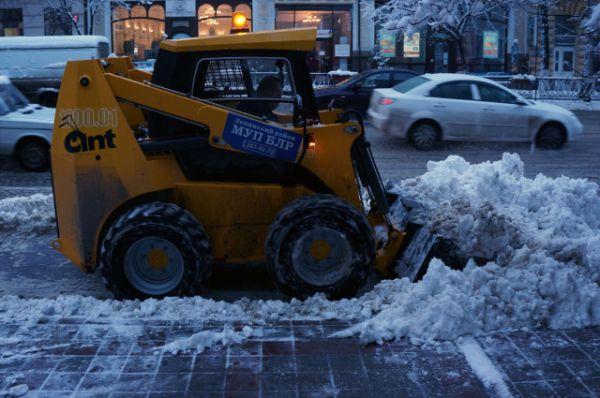 Убирайте снег, пока не расстаял!